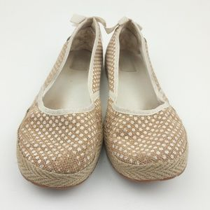 UGG Brown/White Slip Ons Flats Size 9.5